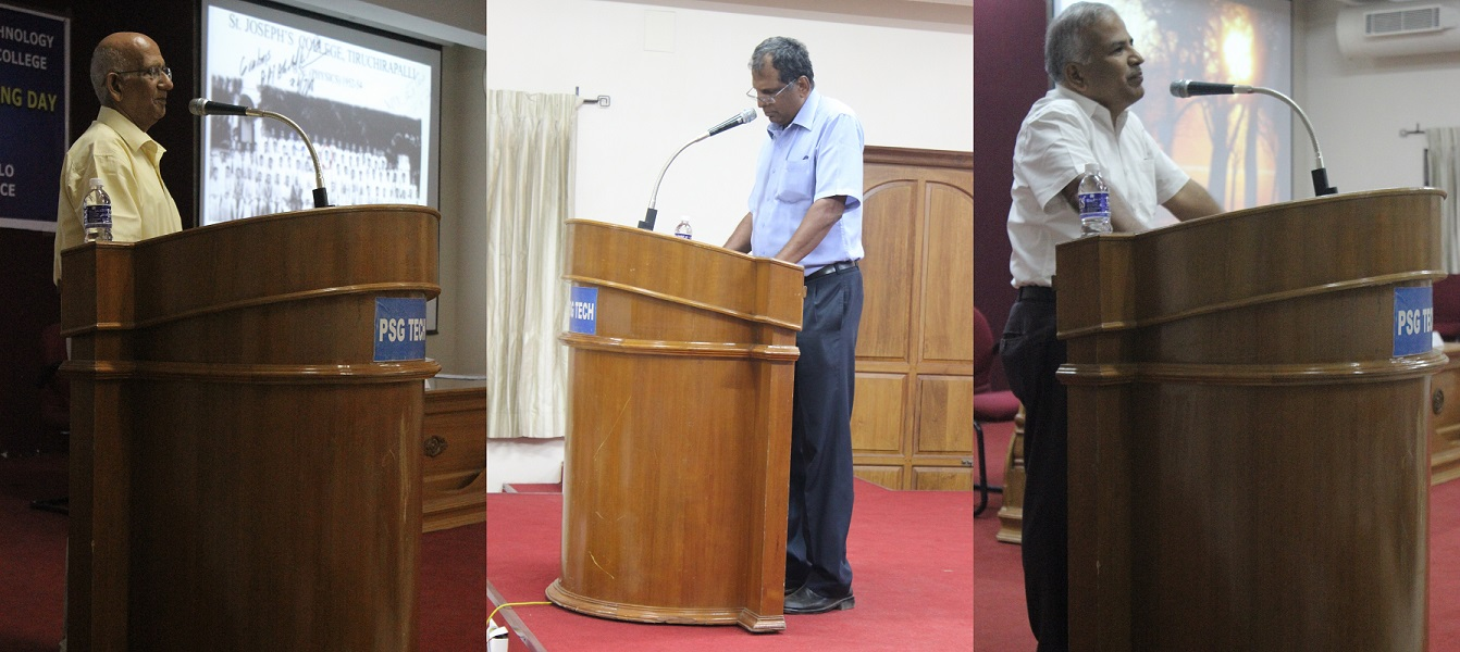 Dr.P.C. Angelo (left), Dr.K. Natarajan (centre) and Dr.R.Rudramoorthy (right)