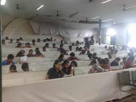 Reading session being organised at Presidency College