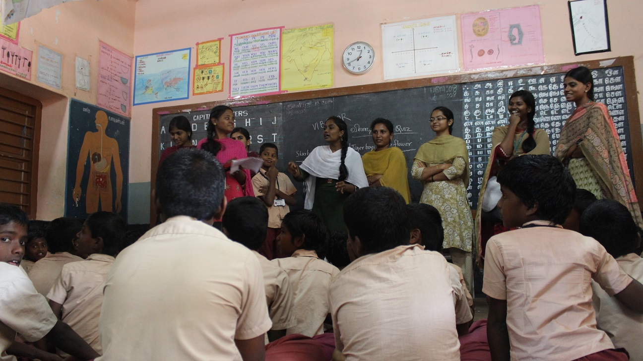 Interacting with Transit school children