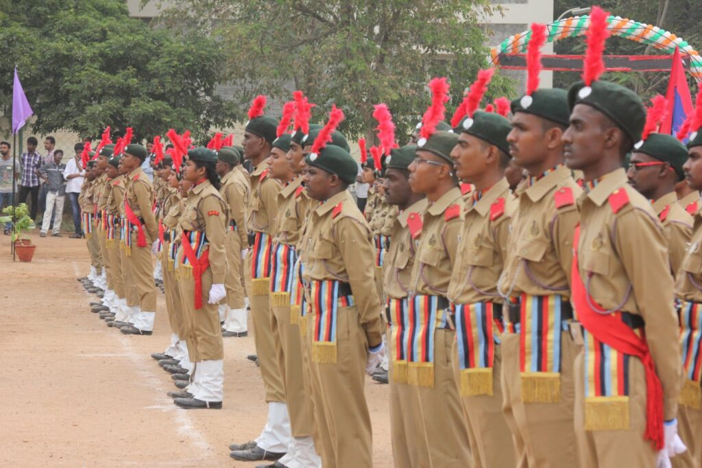 Figure 6 The cadets of various batallions maintaing their unflinched discipline throughout the celebration